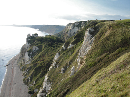 Annie's Blog. May 10: Somerset cliffs and sea smaller